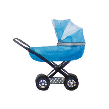 Blue Stroller For A Newborn Ba...