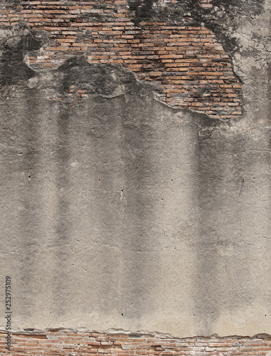Fotografía  The Old and crack brick wall texture background.