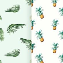 Tropical Summer Pattern Illustration