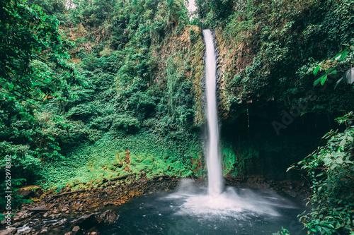 Crashing Waterfall in rainforest