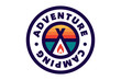 Camping and outdoor adventure retro logo. The emblem for cub scouts. The sign for the Hiking on nature.
