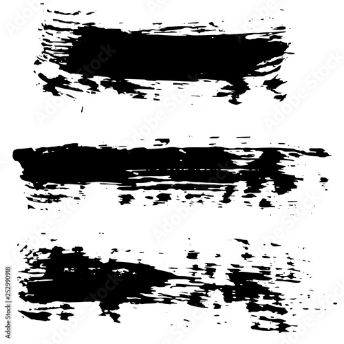 Fototapeta Grunge dry brush set. Hand drawn vector illustration. obraz na płótnie