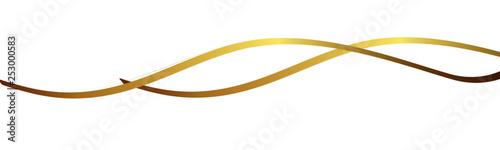 Fotografía  Gold Band Banner Welle Wellen Hintergrund