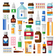 Medicine pills or capsules and ointments syrups and injections