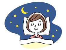 睡眠:若い女性