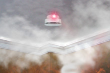 Smoke Detector Mounted On Roof...