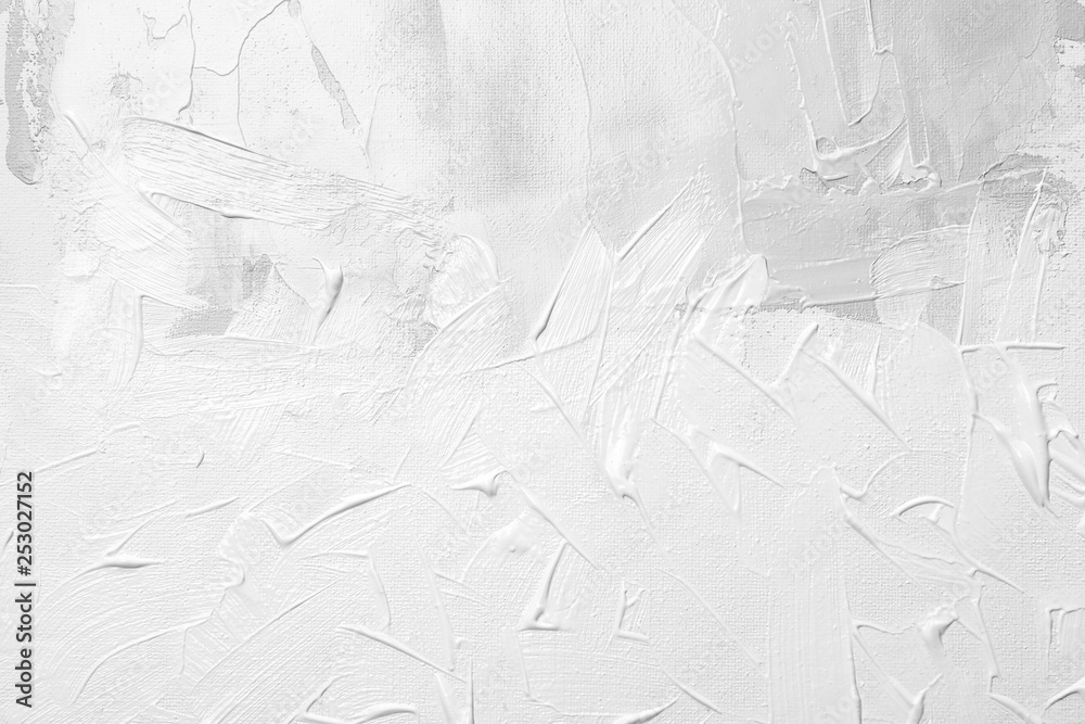 Fototapety, obrazy: White paint oil on canvas