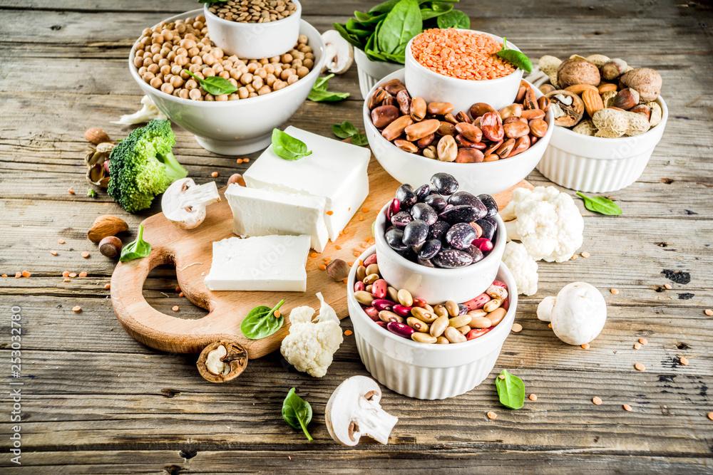 Fototapety, obrazy: Vegan plant protein sources