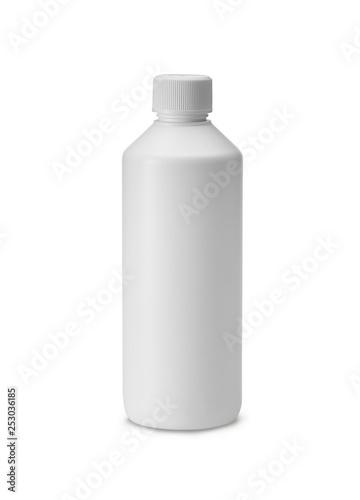 white plastic bottle isolated on white Fototapeta