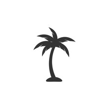 Palm Tree Icon Design Template Vector Isolated