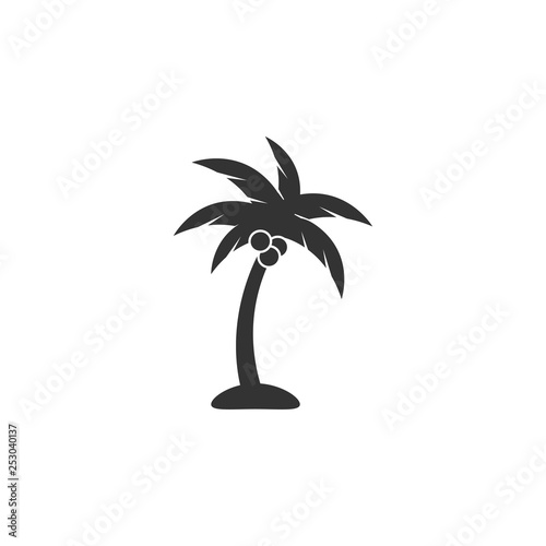 Palm tree icon design template vector isolated Wall mural