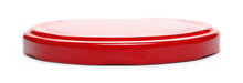 Red Jar Lid Isolated On White ...