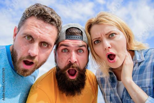 Fényképezés Amazed surprised face expression
