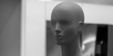 Dummy In The Shop. Mannequin In A Shop Window
