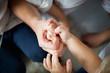 Rodzina, ręce rodziny, związek ludzie