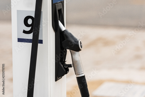 One gun from the gas station - Buy this stock photo and explore
