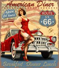 American Diner Vintage Poster ...