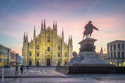 Garden Poster Milan Duomo di Milano - The Cathedral of Milan at first sunlight