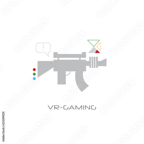 virtual reality gaming weapon vr digital visual technology