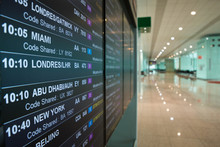 Airport Board Departures Announces The Next Flights