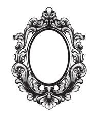 Baroque Mirror Frame. Vector F...