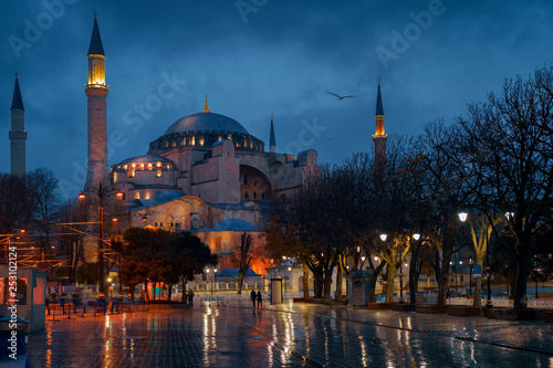 Valokuvatapetti Hagia Sophia Mosque in Istanbul, Turkey. Ayasofya