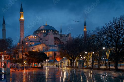 Hagia Sophia Mosque in Istanbul, Turkey. Ayasofya Canvas Print