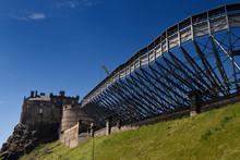 Construction Of Stands At The Esplanade Of Edinburgh Castle For The Annual Royal Edinburgh Military Tattoo As Part Of Edinburgh Festival 2018