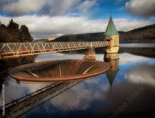 Pontsticill Reservoir on the Taf Fechan river, partly in the county of Powys and Poster Mural XXL