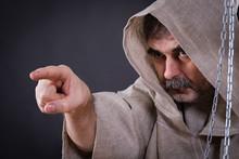 A Fierce Monk-man With A Beard...