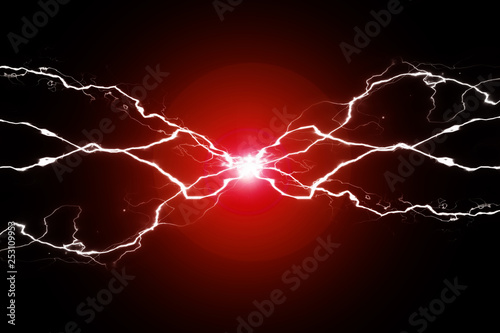 Green Energy Electricy Plasma Power Crackling Fusion Fototapet