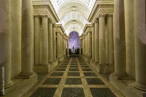 In de dag Temple Rome, Italy - January 6, 2019: Palazzo Spada, Forced perspective gallery by Francesco Borromini