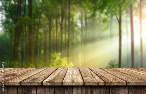 Photo  Empty wooden table background