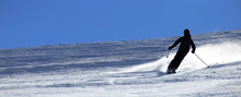Skier Riding The Slope (with C...