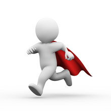 3d Running Super Hero Superman...