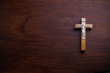 Funeral Concept. Wooden Cross ...