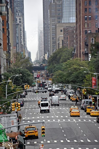 Foto op Canvas New York TAXI traffic in new york city