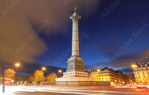 The July Column on Bastille square in Paris, France. Wallpaper Mural