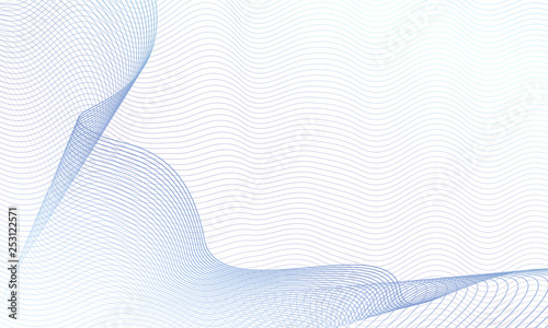 Fotografie, Obraz  Draped net pattern on ripple subtle curves