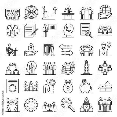 Cuadros en Lienzo Corporate governance icons set