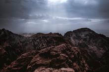 Rain Clouds Over Mountains In Jordan