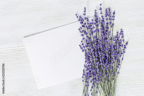 Photo  Lavender flowers top view