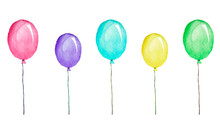 Multicolored Balloons, Waterco...