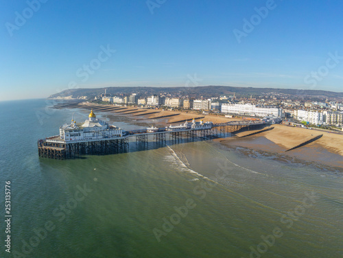 Aerial view over Eastbourne Pier at the south coast of England Wall mural