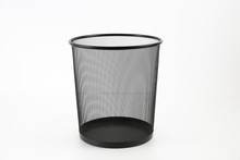 Trash Can Isolated On White Ba...