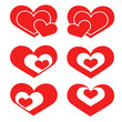 hearts set for the holiday. hearts set for design