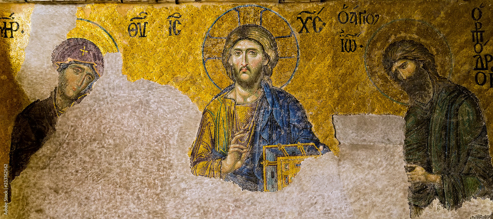 Fototapety, obrazy: Virgin Mary Jesus Christ Cathedral Hagia Sofia