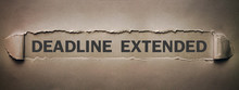 Deadline Extended Text On Torn...