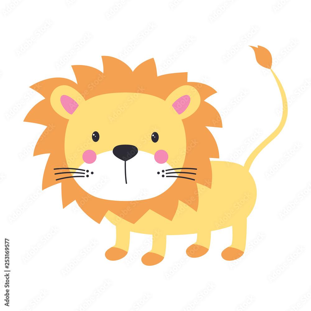 Fototapeta funny kids print lion