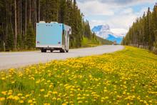 Highway In Jasper National Park